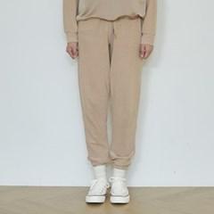 terry jogger pants (beige)
