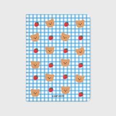 Dot strawberry check-blue(아이패드-커버)_(1646223)