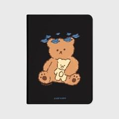 Blue bird bear-black(아이패드-커버)_(1646236)