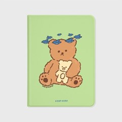 Blue bird bear-green(아이패드-커버)_(1646238)