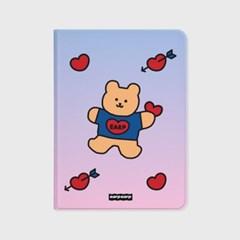Gradation bear heart-blue/purple(아이패드-커버)_(1646241)