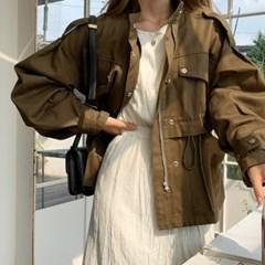 [모어댄베러]니안 오버핏 야상자켓