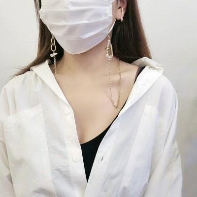 비즈 체인 진주 마스크 목걸이 스트랩