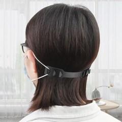 귀통증 보호 마스크밴드(블랙)/ 귀보호 마스크귀걸이