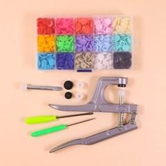 티단추 기구 기계 세트 갓샵 T단추 달기 마스크 스트랩 만들기 재료