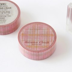 Autumn Check Masking Tape [Indi Pink]