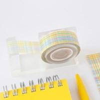 Slender Check Masking Tape [Banana Cup Cake]