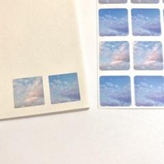 [구름상점] 물든구름 투명사각형스티커
