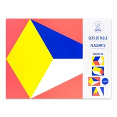OMY 패턴 플레이스매트-컬러 SET08