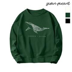 [세븐퍼센트] 특양면 오버핏 맨투맨 흰수염고래_(900640)