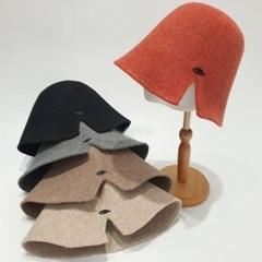 트임 무지 심플 데일리 패션 울 버킷햇 벙거지 모자