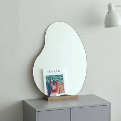 노프레임 비정형 거울 라바(S)