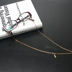 Simple glasses chain II (gold)