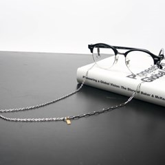Simple glassese chain II (silver)