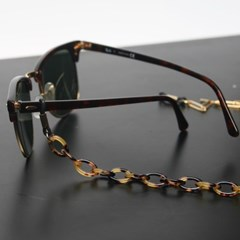 Acetate glasses chain (reo brown)