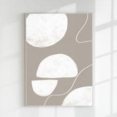 추상화 모던아트 거실 인테리어 포스터 액자 크림 그레이
