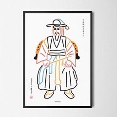 충무공 이순신 장군 M 유니크 인테리어 디자인 포스터