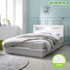 라자가구 오브 에단 LED 평상형 독립CL텍스 Q 침대 DM9045