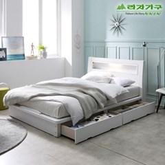라자가구 오브 에단 LED 2서랍평상형 Q 침대프레임 DM9051