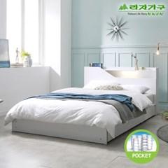 라자가구 오브 아바 LED 수납형 독립스프링 Q 침대 DM9063