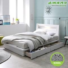 라자가구 오브 에단 LED 2서랍평상형 본넬양면 SS 침대 DM9047
