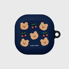 Dot cherry bear-navy(buds live_pro hard)