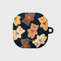 Dot ribbon bear-navy(buds live hard)_(1667558)
