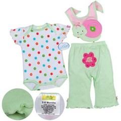 Cute 달팽이 Baby 롬퍼 3Set 830031(3-12개월)
