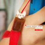 wagle wagle strap-바닐라 고양이