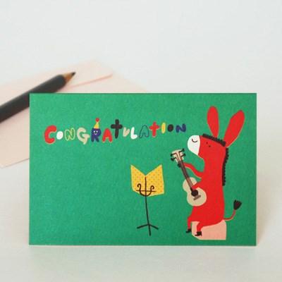 message card-동키의 축하연주