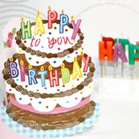 생일카드_Birthday_데코레이션 쵸코케이크