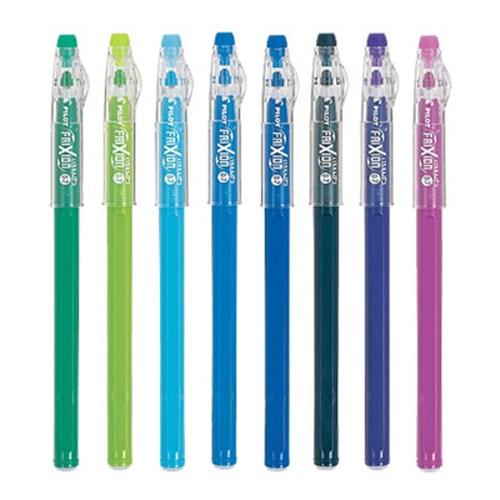프릭션 컬러펜슬느낌 지워지는 젤 펜 0.7mm - 블루시리즈