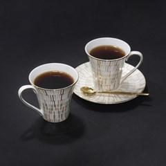 한국도자기 프라우나 루미너스 솔라 2인 커피세트 4p
