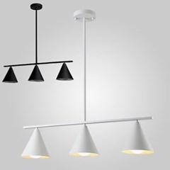 LED 펜던트 프사 3등 블랙 화이트 카페 매장조명_(1962334)