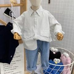 돌핀웨일 솔리드스트라이프셔츠(80~130cm)