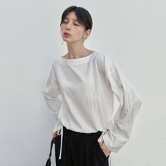 SOFT BOAT STRING BLOUSE_IVORY