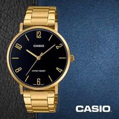 CASIO 카시오 MTP-VT01G-1B2 남성시계 메탈밴드 손목시계