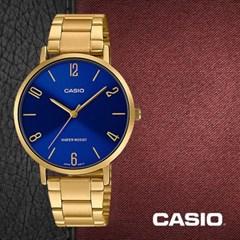 CASIO 카시오 LTP-VT01G-2B 여성시계 메탈밴드 손목시계