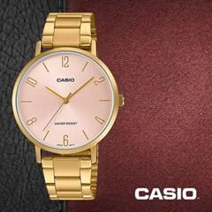 CASIO 카시오 LTP-VT01G-4B 여성시계 메탈밴드 손목시계