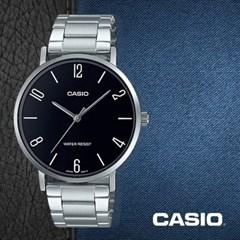 CASIO 카시오 MTP-VT01D-1B2 남성시계 메탈밴드 손목시계