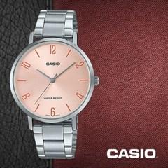 CASIO 카시오 LTP-VT01D-4B2 여성시계 메탈밴드 손목시계