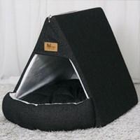 엠펫 텐트형 하우스 - 블랙 강아지 고양이 하우스
