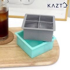 파스텔 실리콘 아이스큐브 원형 얼음틀 사각 4구