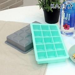 파스텔 실리콘 아이스큐브 원형 얼음틀 사각 15구