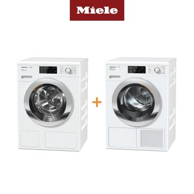 Miele 밀레 의류건조기 TCJ680+드럼세탁기 WCI660