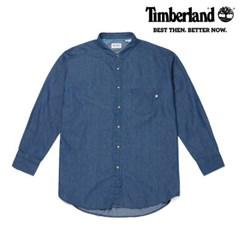 [팀버랜드] 여성 샴브레이 보이프렌드핏 셔츠 라이트인디고 (B2404)