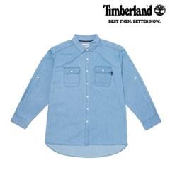 [팀버랜드] 여성 샴브레이 롤업 셔츠 - 라이트 인디고 (B3601)