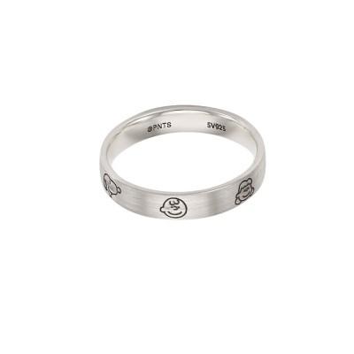 [로이드x스누피] 스누피 프렌즈 플랫 Silver 반지 LLRS20T06NSS