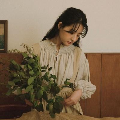 이자벨 린넨 드레스 : Isabel linen dress - natural