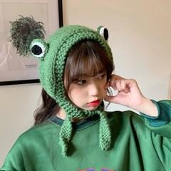 인싸 개구리 귀도리 모자 5color 니트 겨울 귀마개 귀여운 머리띠